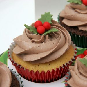 Christmas Decoration Cupcakes