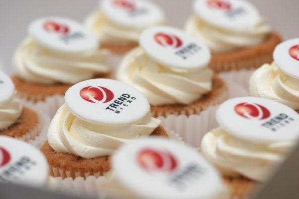 Corporate Printed Logo Cupcakes